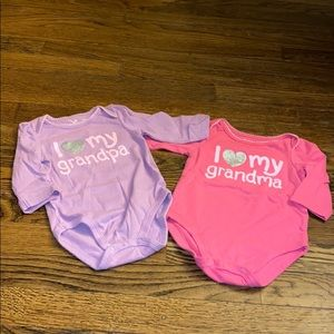 NWOT. 3 month baby girl onesies